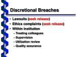 discretional breaches