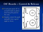 off boards control release