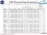 cpf normal point generation11