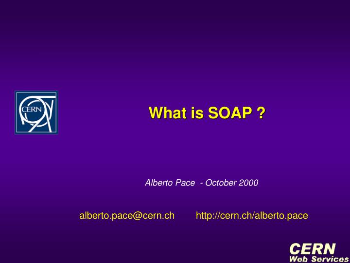 what is soap n.