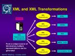 xml and xml transformations