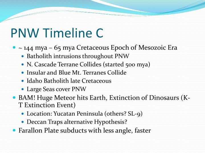 PNW Timeline C