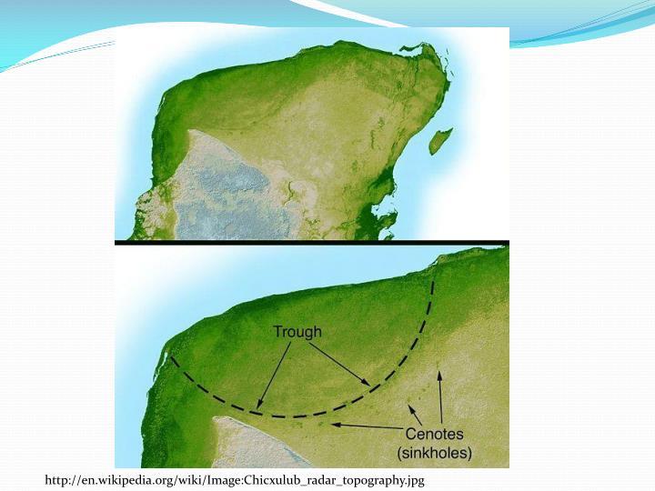 http://en.wikipedia.org/wiki/Image:Chicxulub_radar_topography.jpg