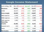 google income statement