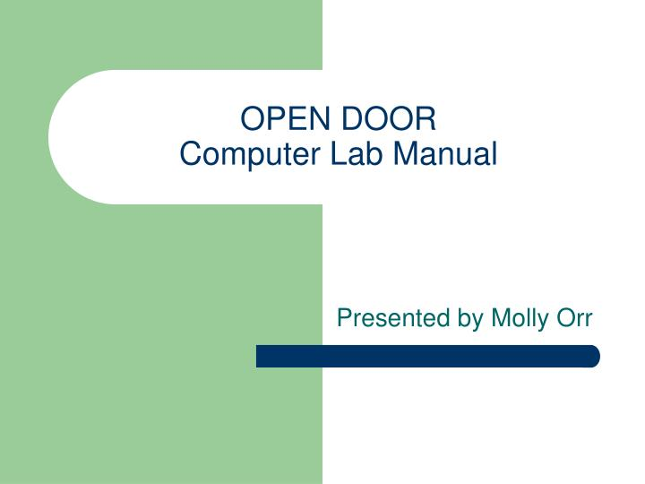 open door computer lab manual n.