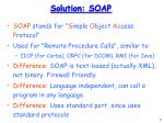 solution soap