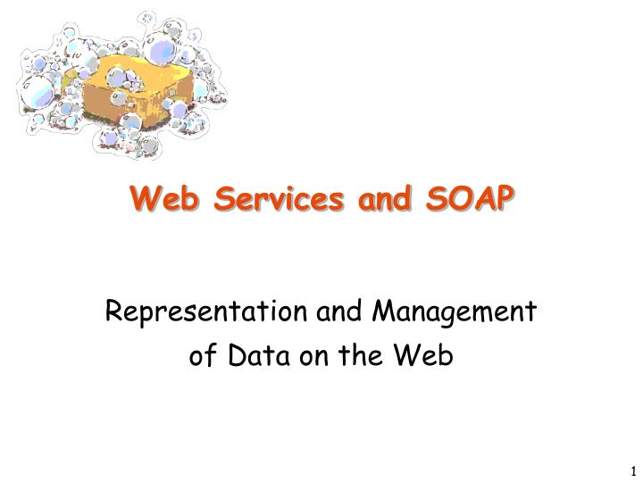 web services and soap n.
