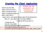 creating the client application2