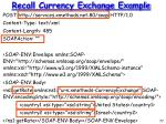 recall currency exchange example