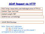 soap request via http