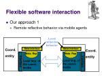 flexible software interaction1