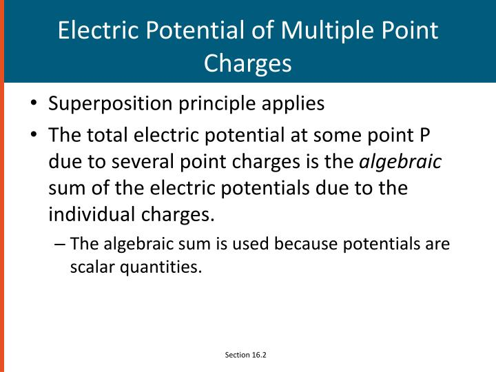 Electric Potential of Multiple Point Charges