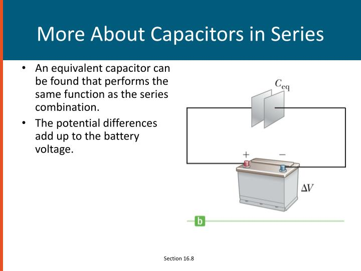 More About Capacitors in Series