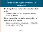 potential energy compared to potential