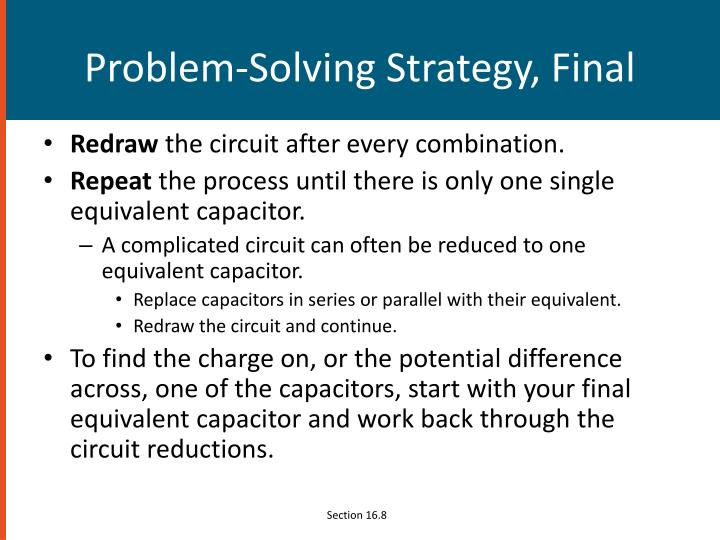 Problem-Solving Strategy, Final