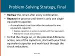 problem solving strategy final