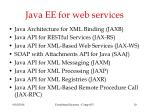java ee for web services