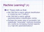 machine learning 4