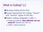 what is coding 1