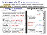 intermolecular forces between molecules