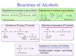 reactions of alcohols2