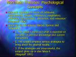 non state theories psychological concepts