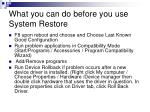 what you can do before you use system restore