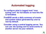 automated logging
