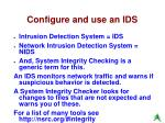 configure and use an ids