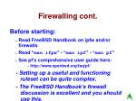 firewalling cont3
