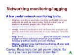 networking monitoring logging