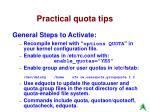 practical quota tips