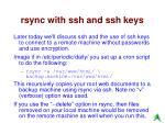 rsync with ssh and ssh keys
