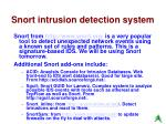 snort intrusion detection system