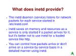 what does inetd provide