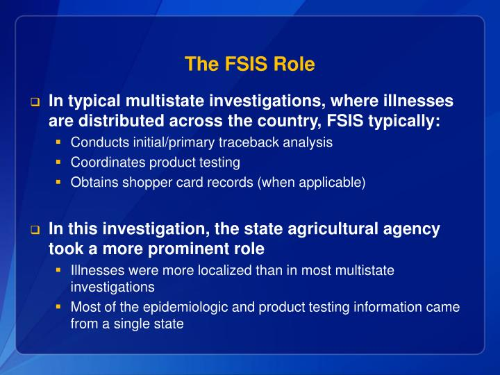 The FSIS Role
