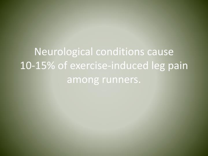 Neurological conditions cause 10 15 of exercise induced leg pain among runners