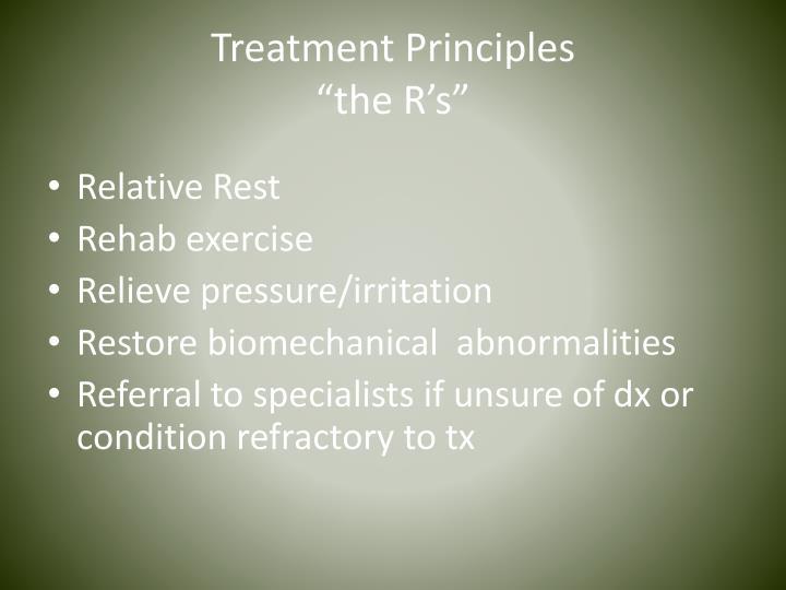 Treatment Principles