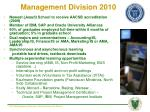 management division 2010