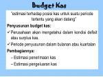 budget kas
