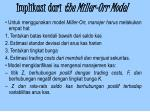 implikasi dari the miller orr model