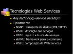 tecnologias web services
