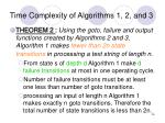time complexity of algorithms 1 2 and 3