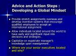 advice and action steps developing a global mindset1