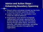 advice and action steps enhancing boundary spanning