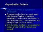 organization c ulture