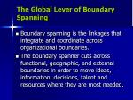 the global lever of boundary spanning