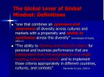 the global lever of global mindset definitions