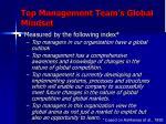 top management team s global mindset