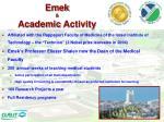 emek academic activity